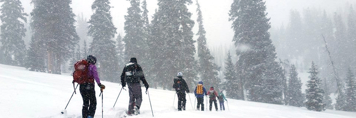 Snowshoeing in the backcountry Telluride Colorado