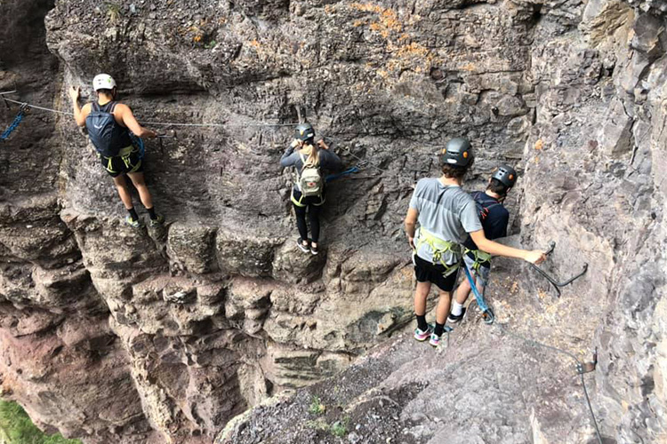 Traversing the Via Ferrata in Telluride