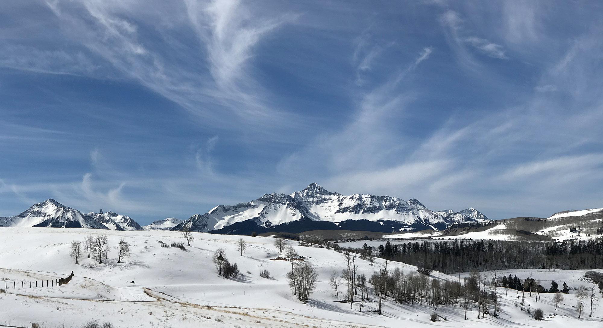 Telluride Co Winter Landscape