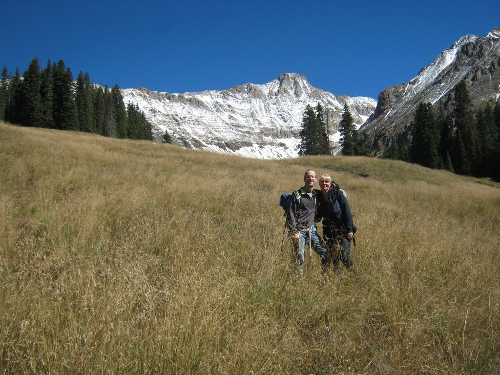 Couple Hiking in Early Spring in Telluride Colorado