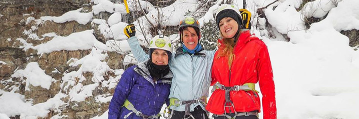 Telluride Women Ice Climbing