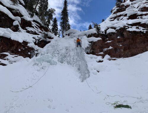 Ice Climbing in Telluride
